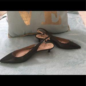 Black Sam Edelman open back shoes